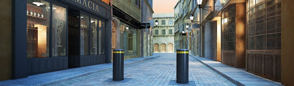 faac centro storico solo render 1 - Traffic Bollards - Vehicle Access Control System